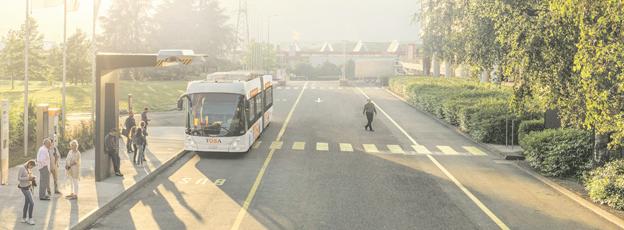 ABB levererar ultrasnabbt laddsystem till dubbelledbussar samt infrastruktur till BRT-linje i Nantes, Frankrike. Bild: ABB