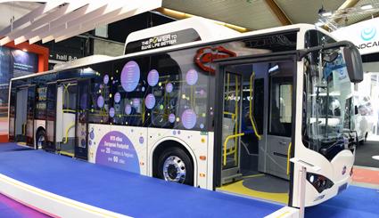 På Busworld visade BYD också upp det första exemplaret av stadsbussen K9 som monterats i företagets nya fabrik i Ungern. Foto: Ulo Maasing.