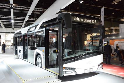 Nya Solaris Urbino 10,5 midibuss, avsedd för trafik på trånga gator och linjer med en lättare belastning. Foto: Ulo Maasing.