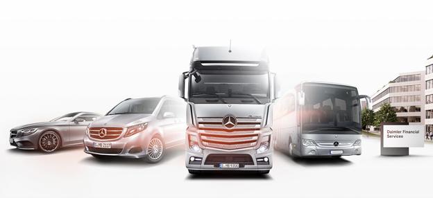 Fordonstillverkaren DAimler förbereder en uppdelning av verksamheten i tre juridiskt fristående enheter under Daimler AG. Bild: Daimler.