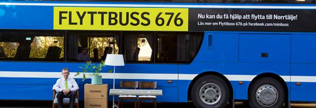 Nobina ska köra flyttbuss mellan Stockholm och Norrtälje. Bild: Nobina.