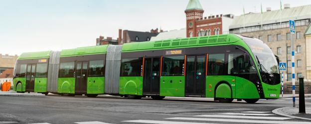 Förebilden. MalmöExpressen står som förebild för HelsingborgsExpressen som nu upphandlas. Men till skillnad från Malmö satsar Skånetrafiken på eldrivna, ändhållplatsladdade bussar. Foto: Skånetrafiken.