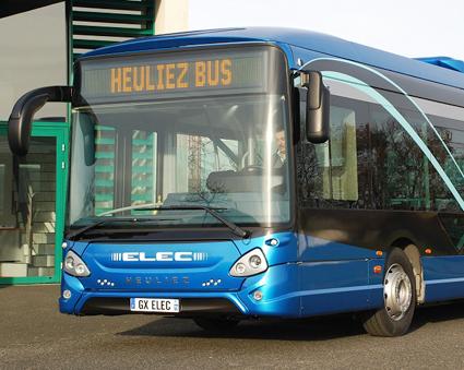 Franska Heeuliez gör en inbrytning på den nordiska bussmarknaden genom att sälja tio 18-meters helt elektriska ledbussar för trafik i Trondheim. I tolvmetersversion lanserades bussen i september 2015. Foto: Heuliez.