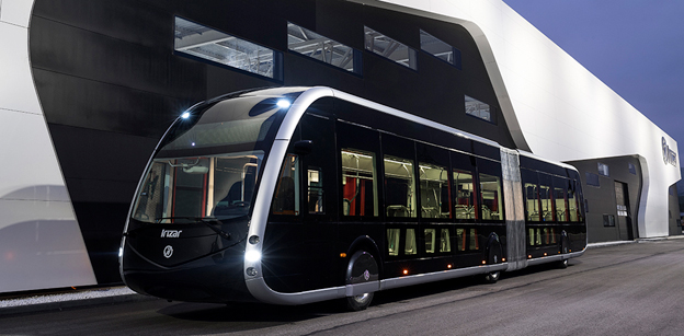 Spanska Irizar lanserar nu en eldriven ledbuss med sikte på BRT-system. Bild: Irizar.