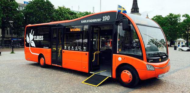 Nu Bra Miljöval. Karlstadsbuss och Keolis kör elbussarna i Karlstad på miljkömärkt el. Foto: Karlstadsbuss.