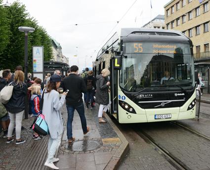 Resandet med kollektivtrafiken ökar i Göteborg. Foto: Ulo Maasing.