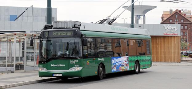 REsandet med kollektivtrafiken i Landskrona har ökat med närmare tio procent i år. Foto: Ulo Maasing.