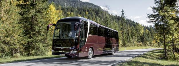 På Busworld i Kortrijk premiärvisar MAN nya Lion´s Coach i 13-meters, tvåaxlig version. Foto: MAN.