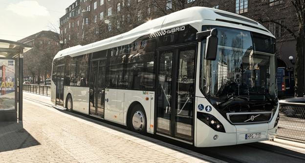 Volvo har fått en genombrottsorder på hybridbussar till Singapore. Foto: Volvo Bussar.