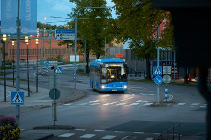 Om en dryg vecka öppnar den nya stadsbussterminalen i Skövde. Foto: Thomas Harryssln.