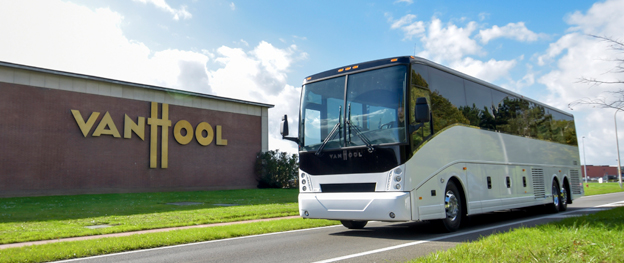 Belgiska Van Hool lanserar sin  batteridrivna CX45E i USA. Foto: Van Hool.