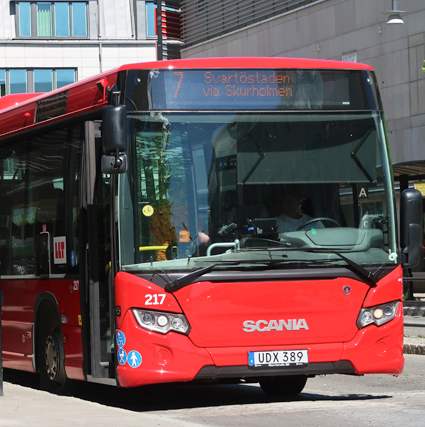Buss utan plagierad klädsel. Foto: Ulo Maasing.