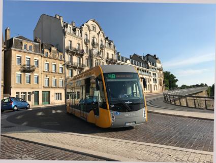 """BRT, eller superbuss, i den franska staden Metz. """"För dyrt för Stockholm, här satsr vi på spår"""", säger trafikborgarrådet Daniel Helldén(MP). Foto: Ulo Maasing."""