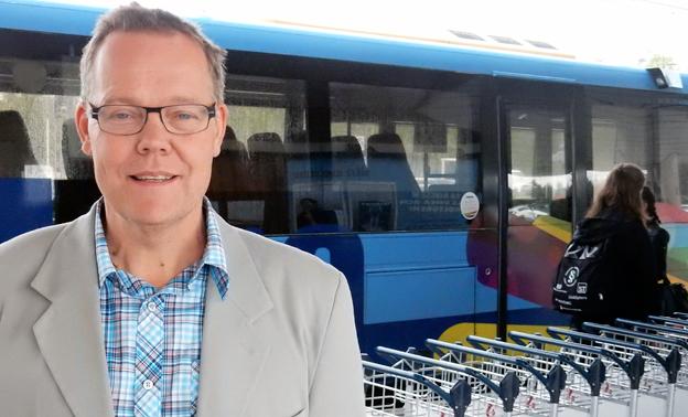 Umeås kollektivtrafikchef Fredrik Forssell: Vi fortsätter satsa på elbussar. Foto: Ulo Maasing.