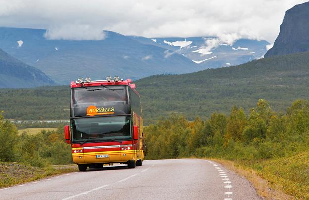 Den andra mars startar Hörvalls Buss Nikkaluoktaexpressen, en kommersiellt driven busslinje mellan Kiruna och den norrbottniska fjällvärlden, Foto: Patrik Hansson.