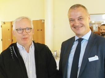 Informationschefen Carsten Johansen och nordenchefen Bo Schou Lauridsen ledde årets workshop.