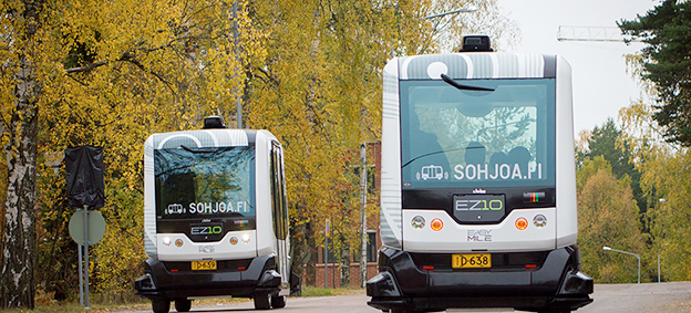 Chalmers i Göteborg medverkar i ett EU-finansierat projekt för förarlösa bussar. Foto: Sohjoa.