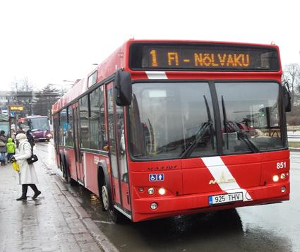 En av satadsbussaarna i Tartu. Foto: Raf24/Wikimedia Commons.