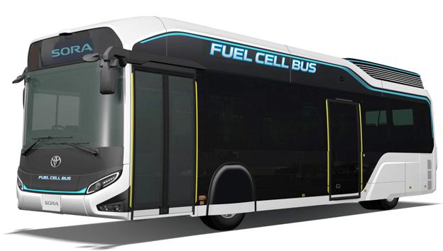 Toyotas bränslecellsbuss Sora ska sättas i serieproduktion nästa år. Bild: Toyota.