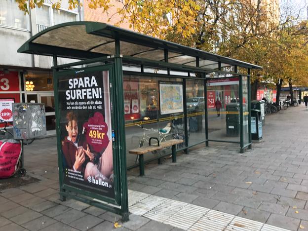 En vanlig busshållplats som inte tänker det minsta själv. Men den tänkande busshållplatsen finns. Foto: Ulo Maasing.