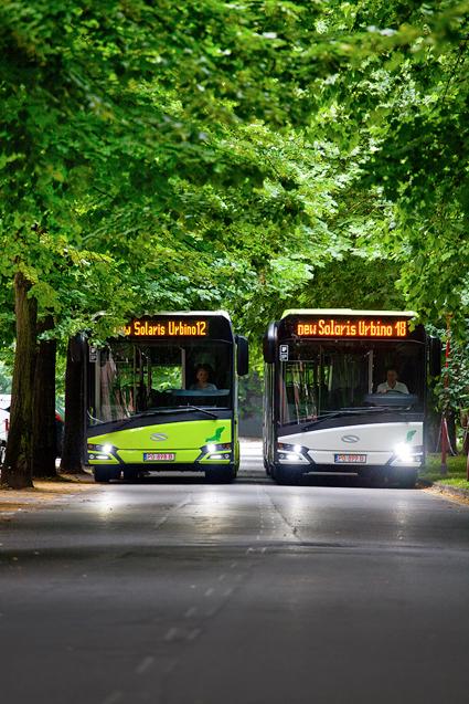 Solaris har fått en stororder på stadsbussar till Litauens huvudstad Vilnius. Ordern omfattar 100 12-metersbussar och 50 ledbussar. Foto: Solaris.
