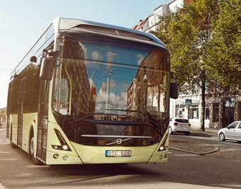 Norska Trondheim får 2019 35 elbussar i stadstrafiken i Nordens hittills största elbusssatsning., 25 av bussarna kommer att levereras av Vlolvo, 10 ledbussar av franska Heulieuz. Foto: Volvo.